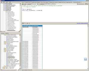 Select kolom table dengan LINQ