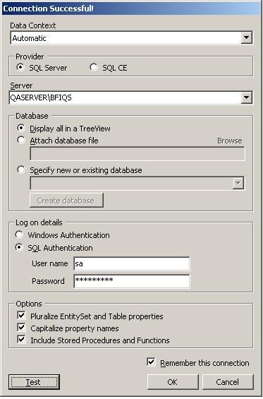 Setting Koneksi Database di LINQPAD