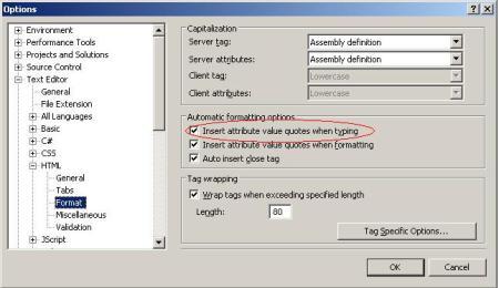 Konfigurasi Options di Visual Studio